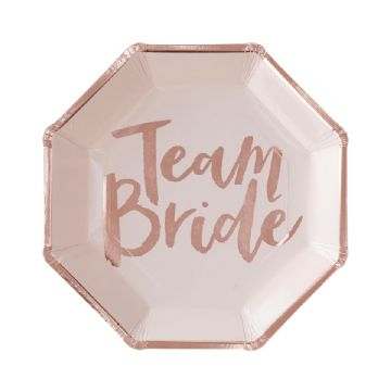 Team Bride Party Plates - Pack of 8
